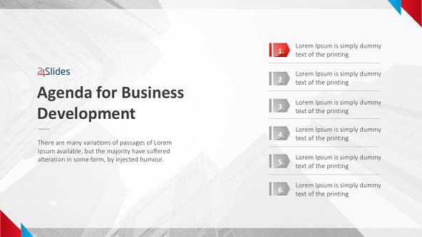 Business development agenda template free powerpoint templates business development agenda slide flashek Choice Image