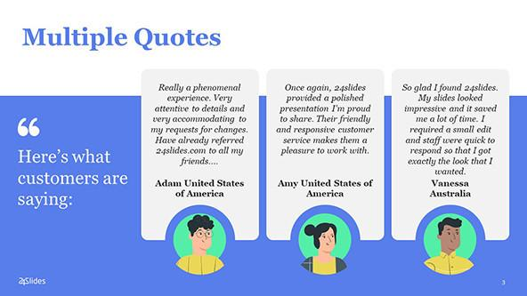 Multiple quotes PowerPoint Template