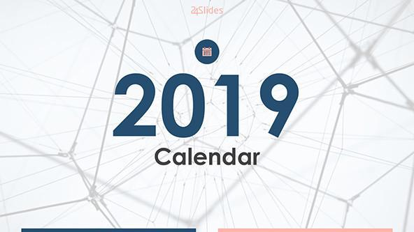 welcome slide for 2019 calendar in minimalist theme