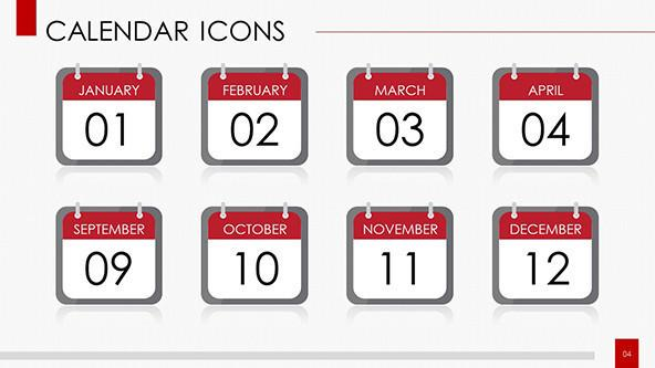daily calendar icons with dates