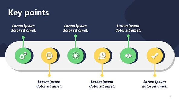 powerpoint key point slide for creative presentations
