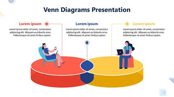 colorful venn diagram with playful people illustration
