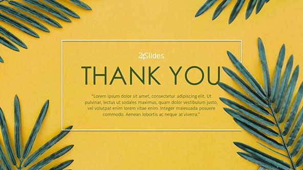 Tropical Theme Thank You slide