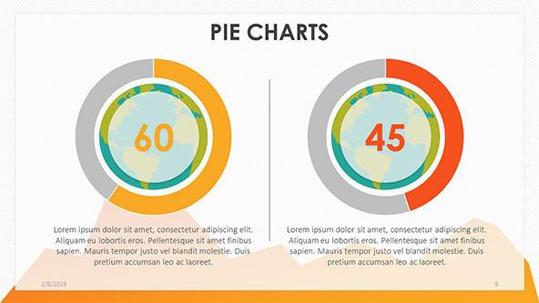 playful compared pie chart with data driven information text