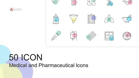 50 Medical and Pharmaceutical Icons in PowerPoint