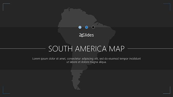 South america map free powerpoint template south america map welcome slide toneelgroepblik Images