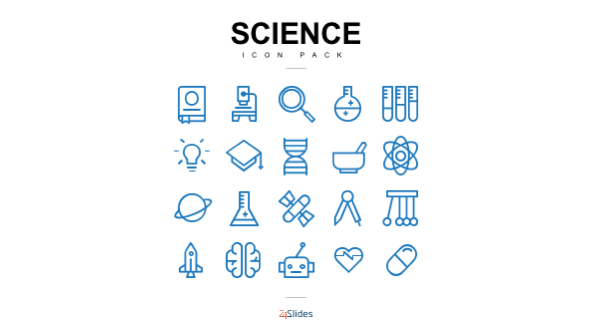 Science icon illustrations